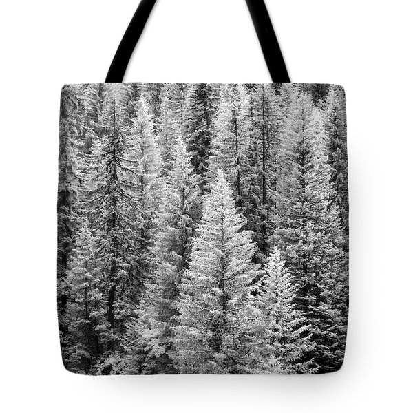 Standing Tall In The French Alps Tote Bag