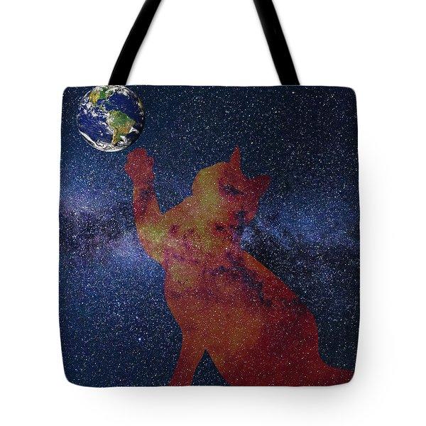 Star Cat Tote Bag