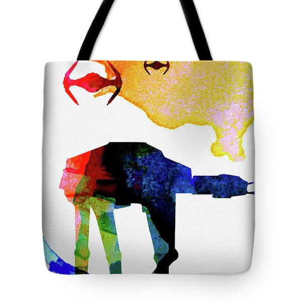 Star Ground Warrior Watercolor Tote Bag