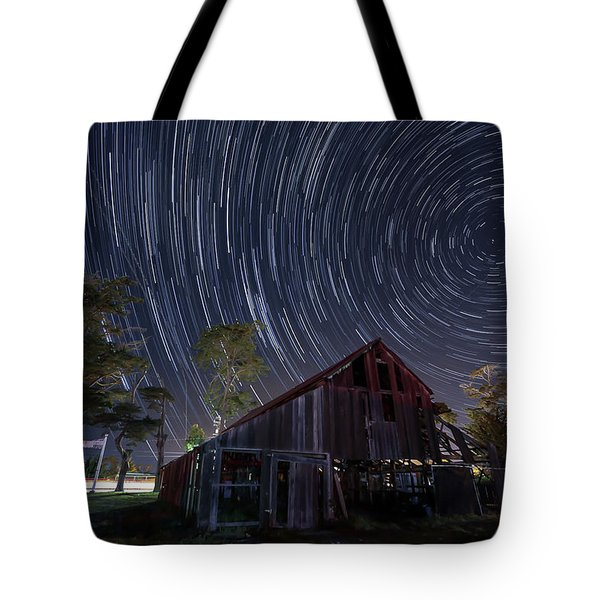 Star Trails Over Bonetti Ranch Tote Bag