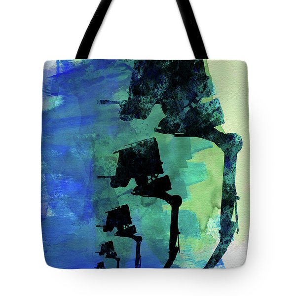 Star Warrior At-st Watercolor Tote Bag