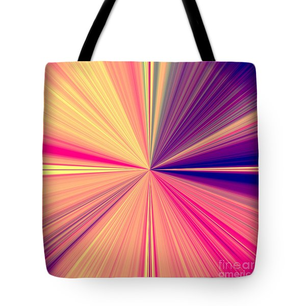 Starburst Light Beams In Abstract Design - Plb457 Tote Bag