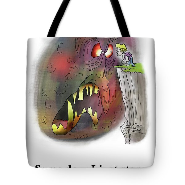 Tote Bag featuring the digital art Staring Into The Void by Mark Armstrong