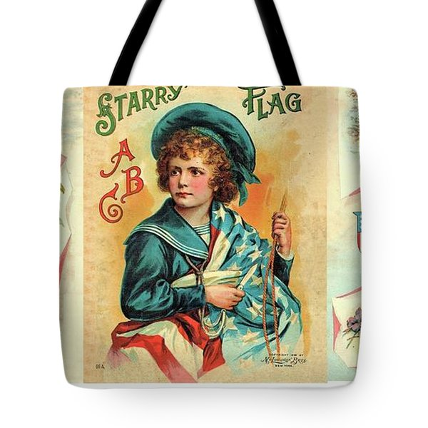 Starry Flagg Wrap A Round Tote Bag