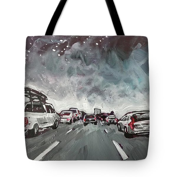 Starry Night Traffic Tote Bag