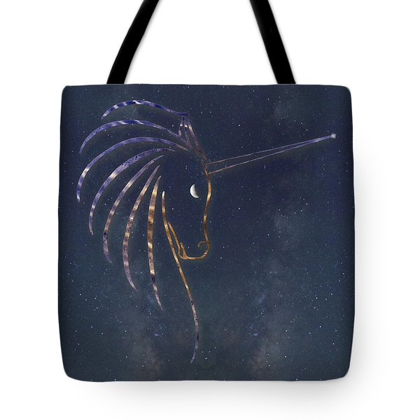 Star Unicorn Tote Bag