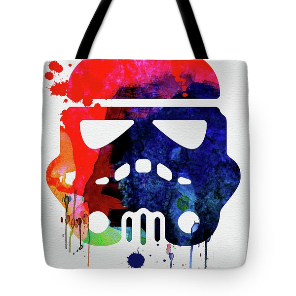 Starship Trooper Watercolor Cartoon Tote Bag