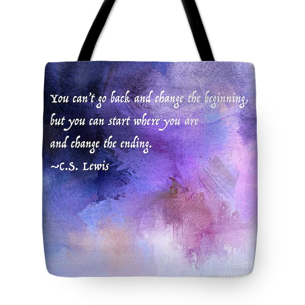 Start Where You Are Tote Bag