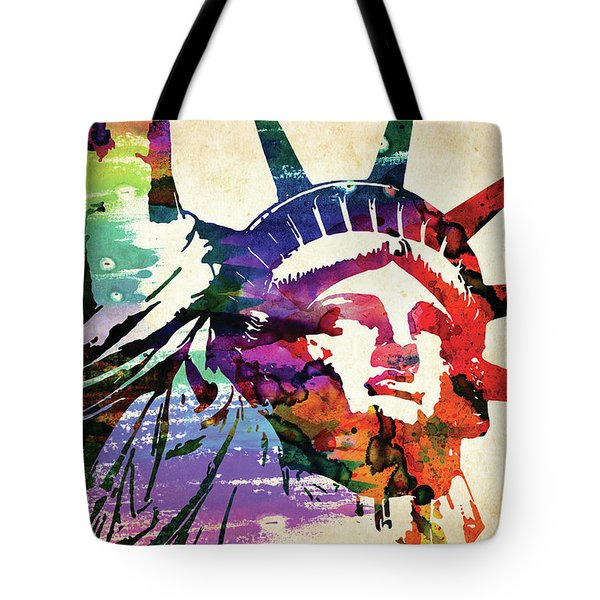 Statue Of Liberty Colorful Watercolor Tote Bag