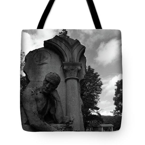 Statue, Pondering Tote Bag
