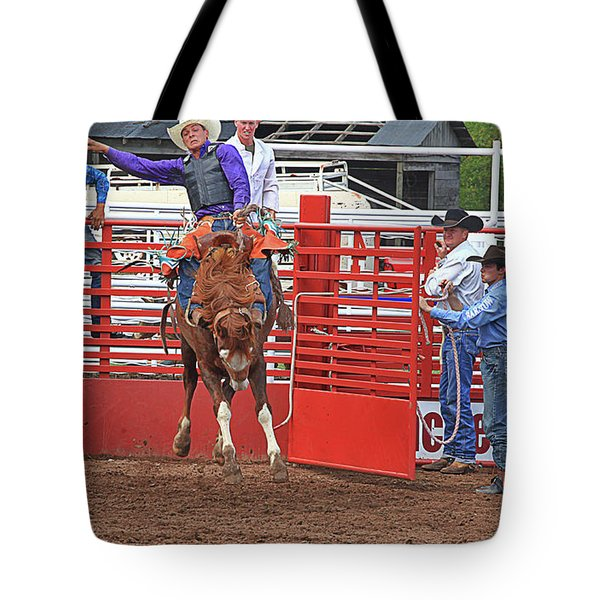 Stay In The Saddle Cowboy Tote Bag