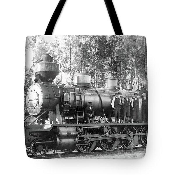 Steam Engine Locomotive 594 Finland Tote Bag