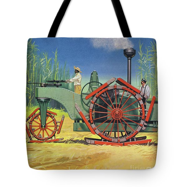 Steam Traction Engine Created To Work In The Sugar Plantations Of Cuba Tote Bag