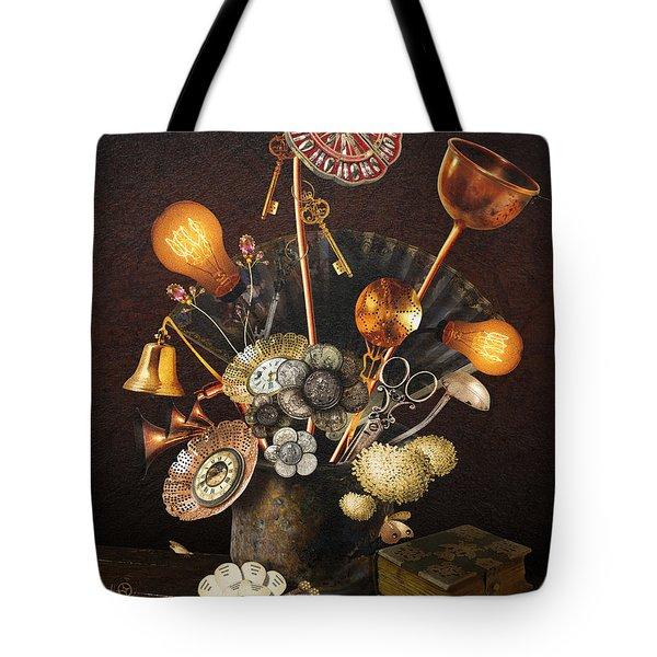 Steampunk Bouquet Tote Bag
