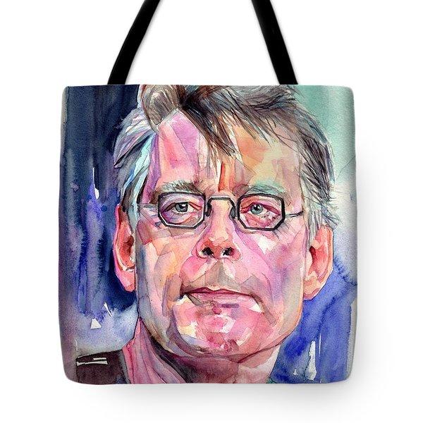Stephen King Portrait Tote Bag
