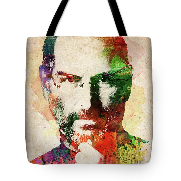 Steve Jobs Watercolor Portrait Tote Bag