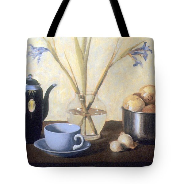 Still Life With Faded Iris Tote Bag