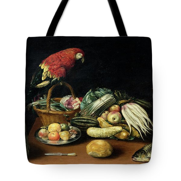 Still Life With Fruit, Parrot, Fish And Vegetables Tote Bag