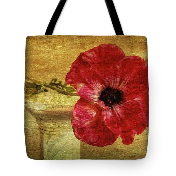 Still Life With Poppy Tote Bag