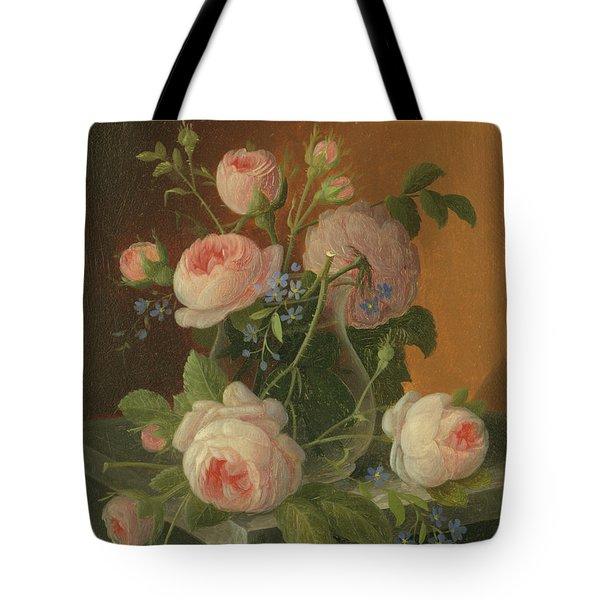 Still Life With Roses, Circa 1860 Tote Bag