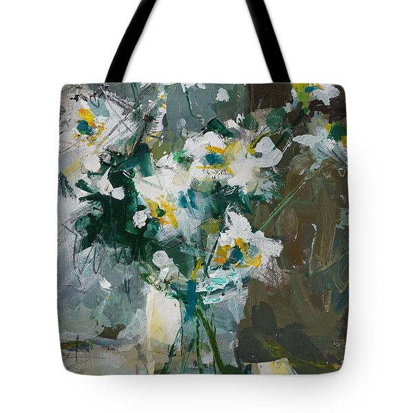 Still Life With White Anemones Tote Bag