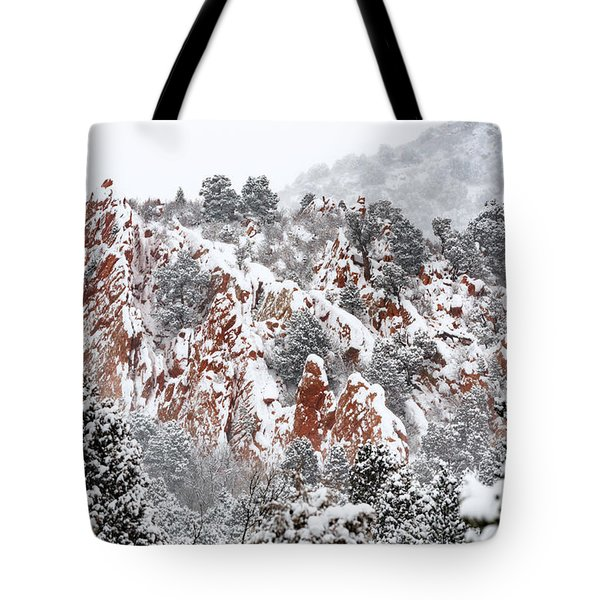 Stillness Of A Snow Covered Morning Tote Bag