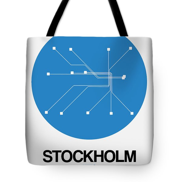 Stockholm Blue Subway Map Tote Bag