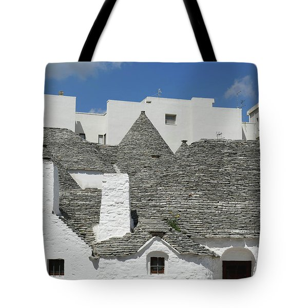 Stone Coned Rooves Of Trulli Houses Tote Bag