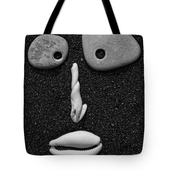Tote Bag featuring the photograph Stone Face by John Rodrigues