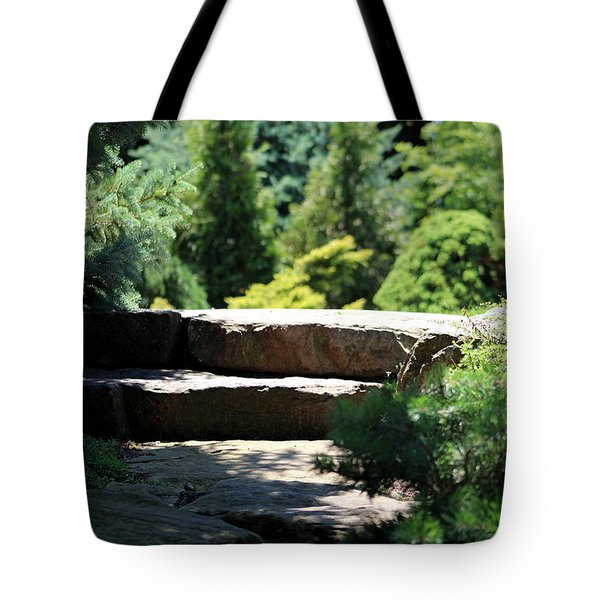 Stone Stairs In Chicago Botanical Gardens Tote Bag