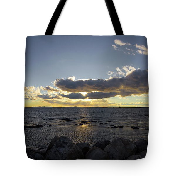 Stonington Point Cloudy Sunset 2019 Tote Bag