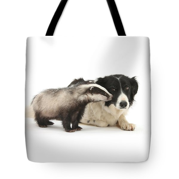 Tote Bag featuring the photograph Stop Badgering Me by Warren Photographic
