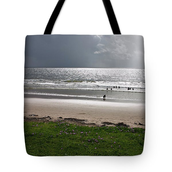 Storm Brewing Over The Sea Tote Bag