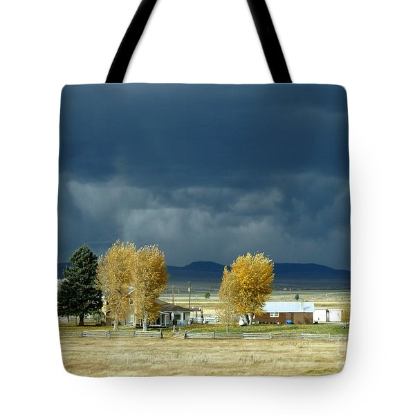 Tote Bag featuring the photograph Storm Brewing by Rosanne Licciardi