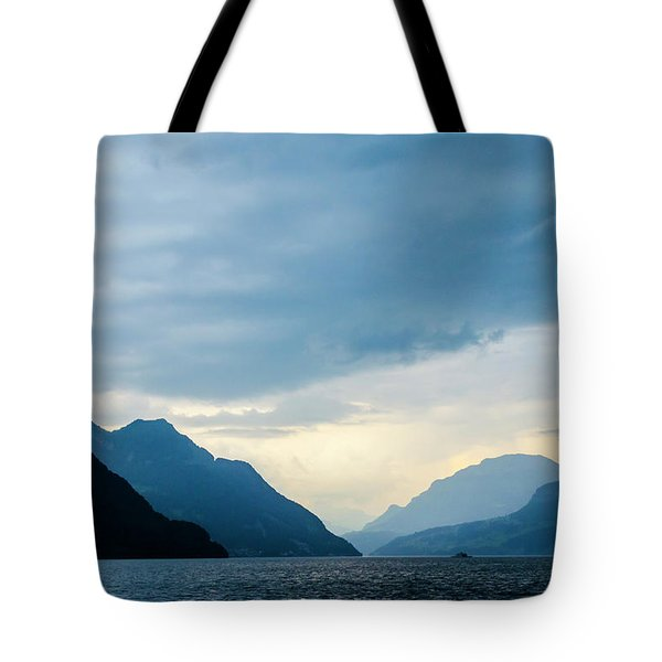 Storm Clouds On Lake Lucerne Tote Bag