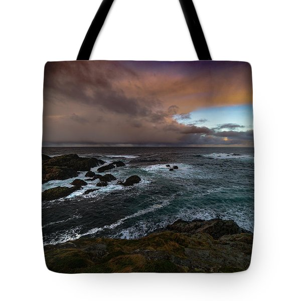 Storm Coastline Tote Bag