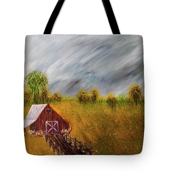 Tote Bag featuring the photograph Storm Coming by Randy Sylvia