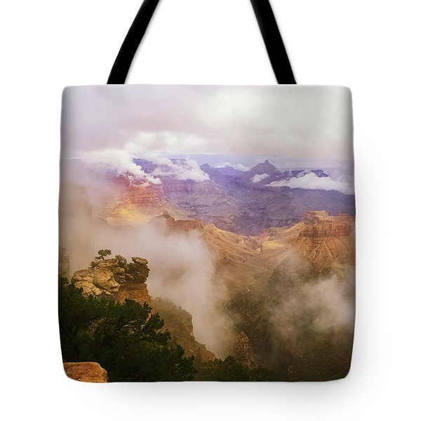 Storm In The Canyon Tote Bag