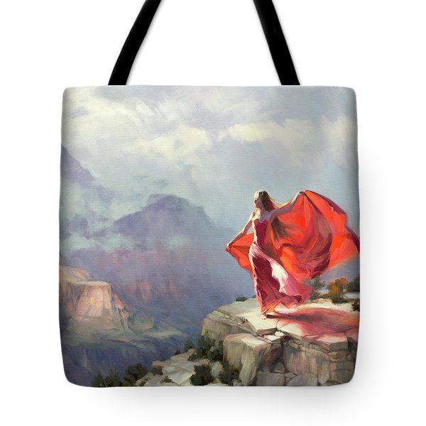 Tote Bag featuring the painting Storm Maiden by Steve Henderson