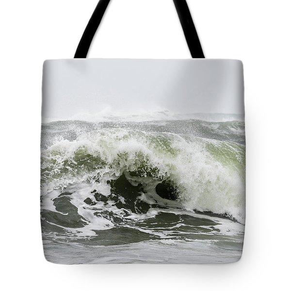 Storm Surf Spray Tote Bag
