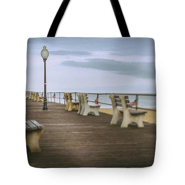 Stormy Boardwalk 2 Tote Bag