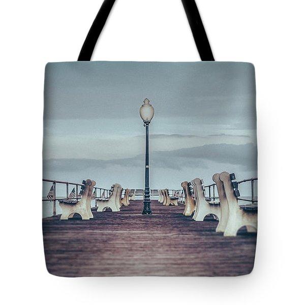Stormy Boardwalk Tote Bag