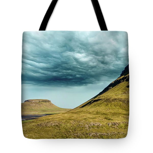 Tote Bag featuring the photograph Stormy Church Mountain by David Letts