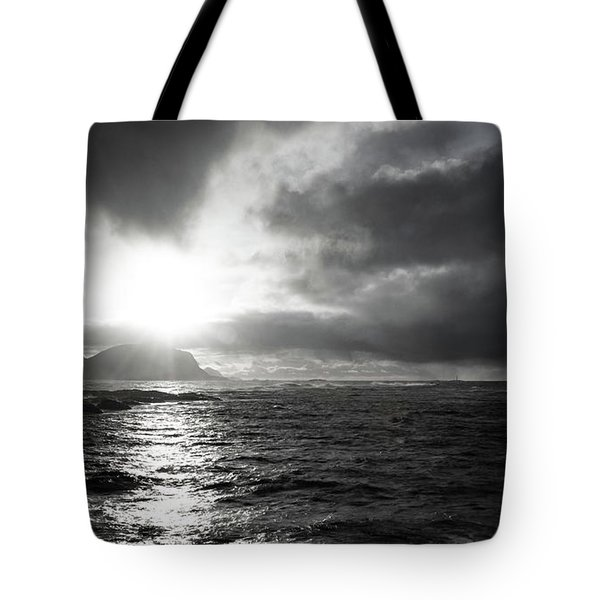 stormy coastline in northern Norway Tote Bag