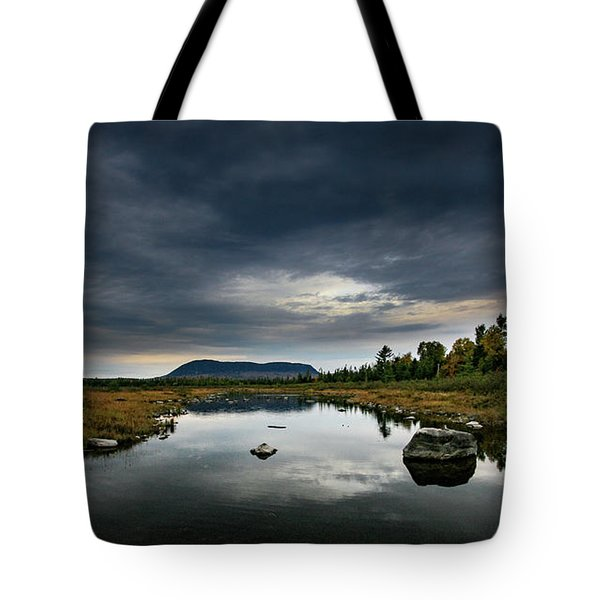 Stormy Day In Maine Tote Bag