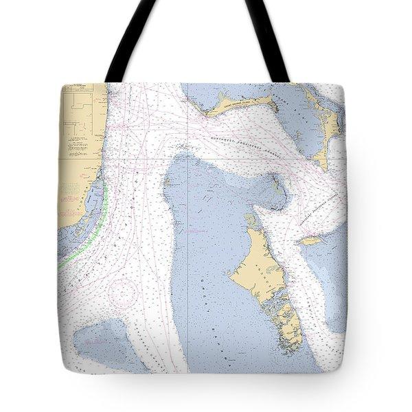 Straits Of Florida, Eastern Part Noaa Nautical Chart Tote Bag