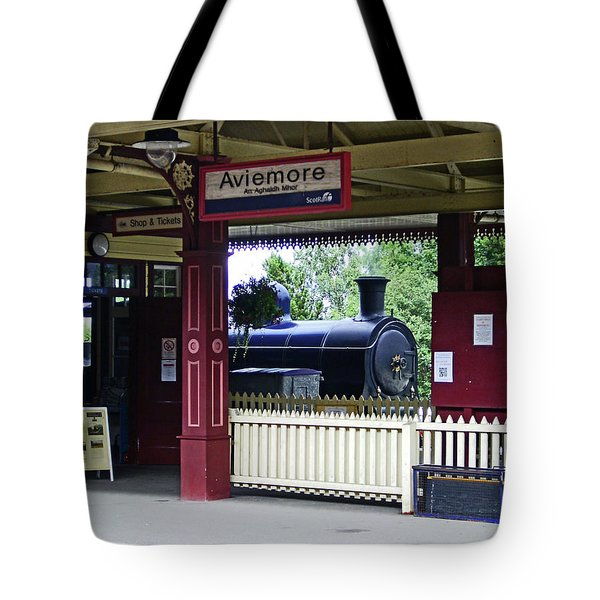Strathspey Railway. Caladonian Railway 828 Tote Bag