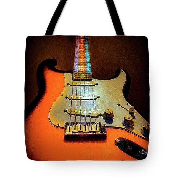 Stratocaster Triburst Glow Neck Series Tote Bag