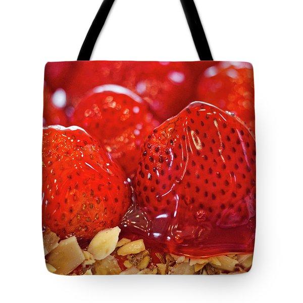 Strawberry Glaze Tote Bag