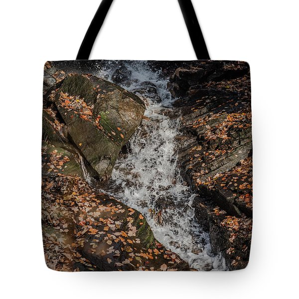Tote Bag featuring the photograph Stream Through Rocks by Scott Lyons